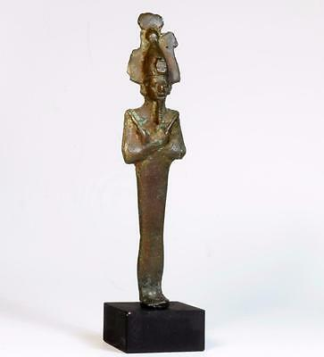 Egyptian bronze figure of Lord God Osiris: Circa 7th-4th century BC.