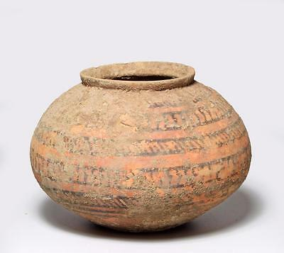 Fine Indus Valley decorated jar: 2500-2100 BC.