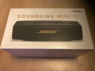 Bose SoundLink Mini II Bluetooth Portable Speaker, Black/Copper, Limited Edition