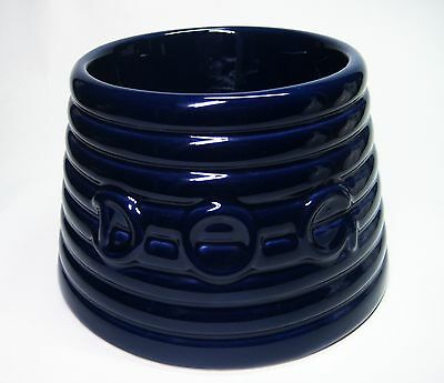 Bauer Pottery Los Angeles Midnight Cobalt Blue Lg Ringware Dog Water Food Bowl