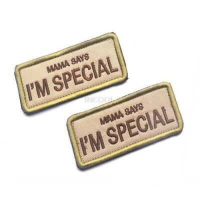 MAMA SAYS I'M SPECIAL Military Patch Morale Patch 3D Badge Fabric Armband Badges