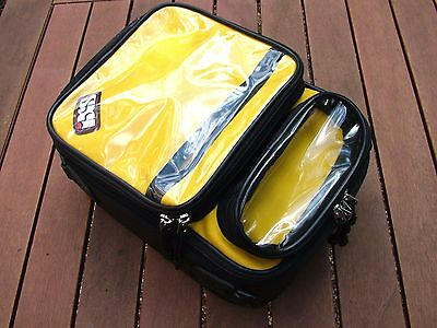 IXS Motorcycle Motorbike Magnetic Tank Bag with Rain Cover - Black & Yellow