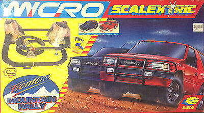 Micro Scalextric G093 Frontera Mountain Rally Rare Off Road Slot Car Set Boxed