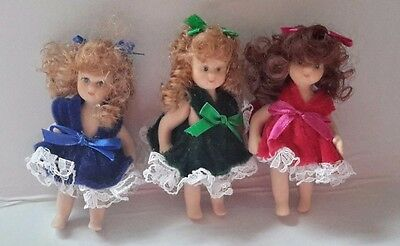 Vintage Miniature Dolls/Girls - Set of 3