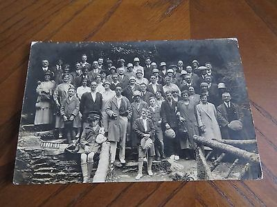 Vintage Postcard Group Of People By Arthur Hadley Ramsey Isle Of Man