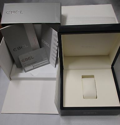 EBEL 5 Yr Card Quartz Instructions & Service Books Gray Lacquered Wood Watch Box
