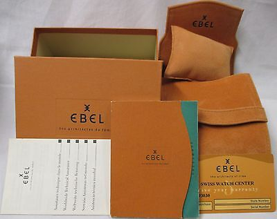 EBEL DressWave Dress Wave Watch Box Pouch Instructions Book Booklet +5 Year Card