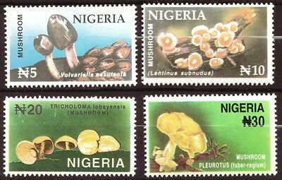 Nigeria -Mushrooms, Fungi 4v NHM 1996