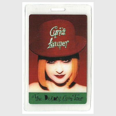 Cyndi Lauper authentic 1994 concert Laminated Backstage Pass Deadly Cyns Tour