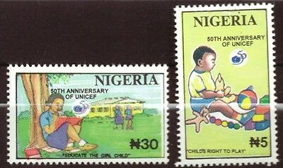 Nigeria - 50th Anniv of UNICEF 2v NHM 1996
