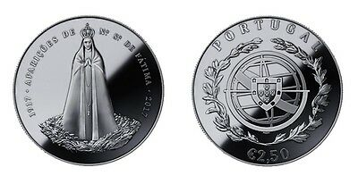 100 years of the Fatima apparitions 2.5 Euros coin 2017 Unc Portugal