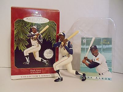 Hallmark Hank Aaron #2 Baseball Series 1997 Christmas Ornaments Atlanta Braves