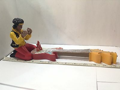 Jimi Hendrix Flaming Guitar Rare Collectible Statue Incense Burner. Lightly Used