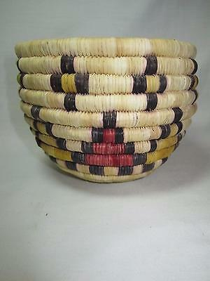 """Native American Hopi Coiled Basket  4"""" by 5"""" Wonderful Condition"""