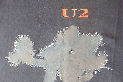 Official U2 The Joshua Tree Black 1987 European tour T-shirt with back print Lrg