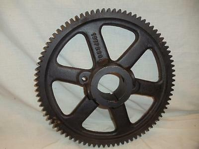"Vintage Large 15"" dia Cast Iron Metal Gear Sprocket Cog Steampunk Art Lamp Base"