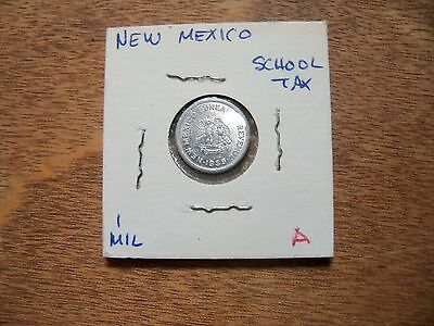 1935 New Mexico 1 Mil School Emergency Tax-5 Cents Purchase Token A