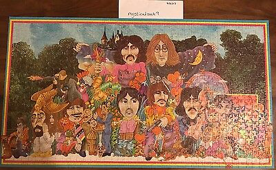 RARE VGC The Beatles Illustrated 800 Piece Jigsaw Puzzle Alan Aldridge Hidden