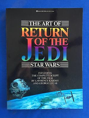 1983 The Art of Return of the Jedi Book + Script 1st Edition MINT New Old Stock