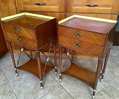 Pair Antique Holywood Regency Side Tables with Crossed Arrow sides, Moderne