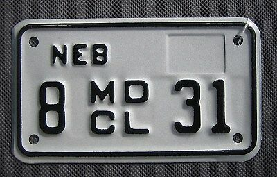 Nebraska Motorcycle License Plate #831