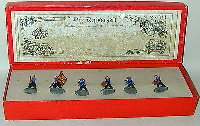 Prussian Military Band + Flag DIE KAISERZEIT 6 Lead Figures 44mm In Original Box
