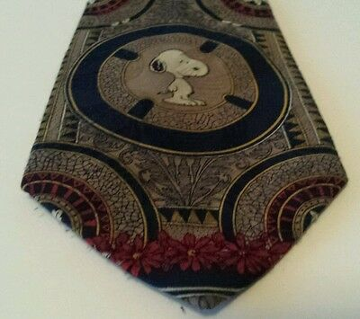 SNOOPY Neck TIE (1958) PEANUTS Beagle CHARLIE BROWN Dog Vintage COMICS