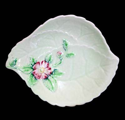 Vintage Carlton Ware pretty apple blossom green pin dish