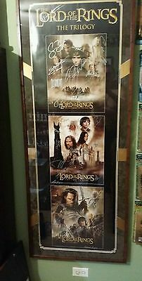 Authenticated Lord of the Rings signed movie poster.W/COA LOTR