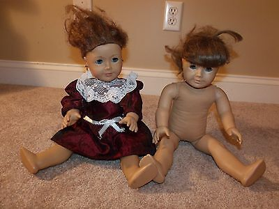 AMERICAN GIRL DOLL MOLLY RETIRED PLEASANT COMPANY & 2013 Girl of Year LOT Saige