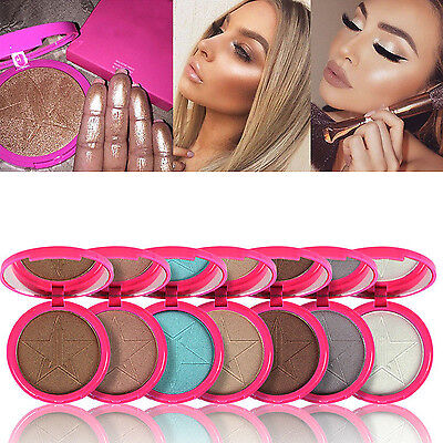 10 Colors Skin Beauty Makeup Frost Highlighter Face Shadows Glow Kit Powders HG
