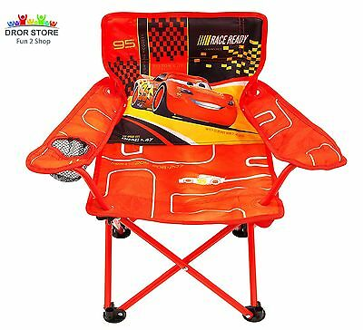 Folding Chair For Kids With Cup Holder Disney Cars Toddler Furniture Sit  Outdoor