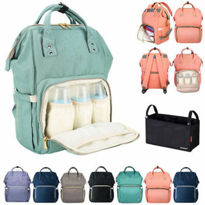 Multifunctional Baby Nappy Diaper Backpack Waterproof Mummy Changing Bottle Bag