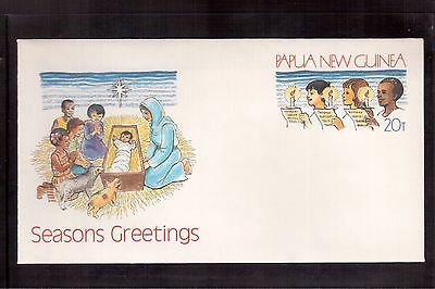 Papua New Guinea Mint/unaddressed Postal Stationary Cover, Seasons Greetings !