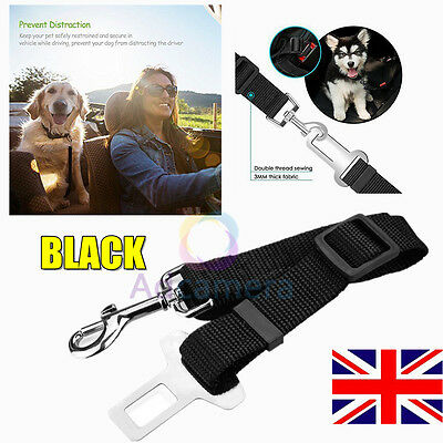 Pet Car Seat Safety Belt Seatbelt Harness Lead for Dog Pet in Vehicle Car Black