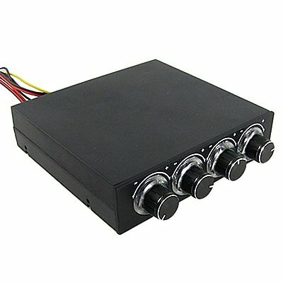 4 Channel 4 Pin Connector Blue LED PC Fan Controller C3N4 I7R7