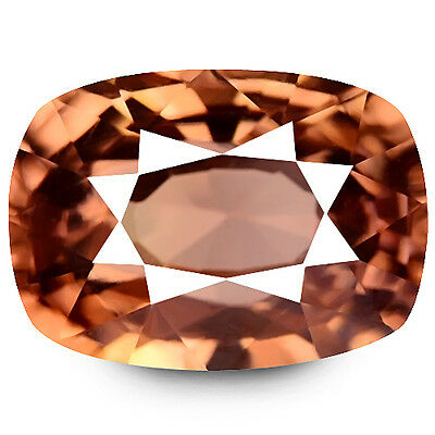3.31ct EXCELLENT NATURAL EARTH MINED RARE AAA YELLOWISH PINK ZIRCON REFER VIDEO