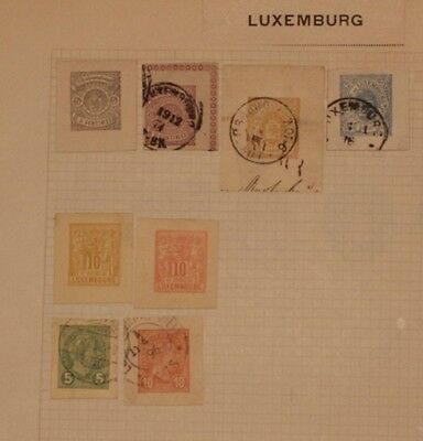 Luxembourg - 8 Early Cut Squares - Mint / Used -  Lot 061316