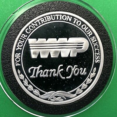 WWP Washington Water Power Proof Coin 1 Troy Oz .999 Fine Silver Round Medal USA
