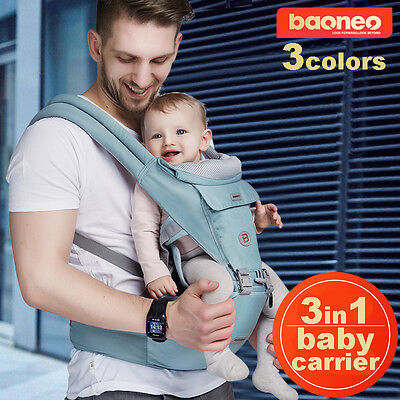 3in1 Ergonomic BN Baby Newborn Infant Toddler Carrier Front Back Hip 5 Colors