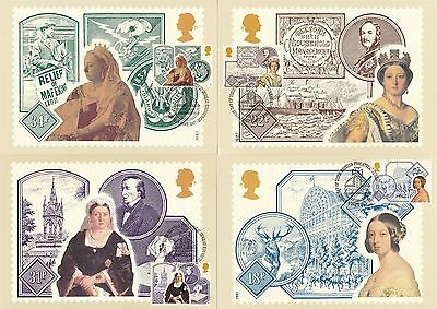 Queen Victoria 1987Great Britain 4 PHQ Cards (Stamps on Front)