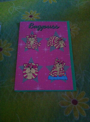 BN Bagpuss Card with 4 Bagpuss drawings in stars