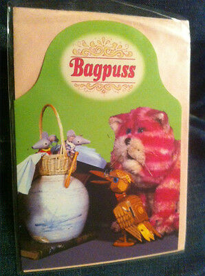 BN Bagpuss Professor Yaffle with the mice in the flying basket Card