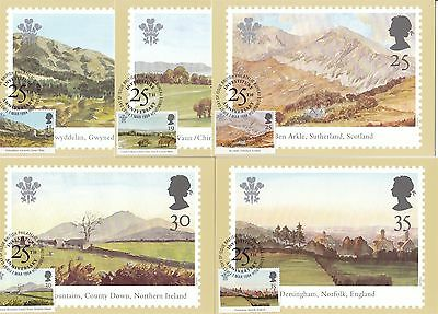Investiture Prince of Wales 1994 Great Britain 5 PHQ Cards (Stamps on Front)