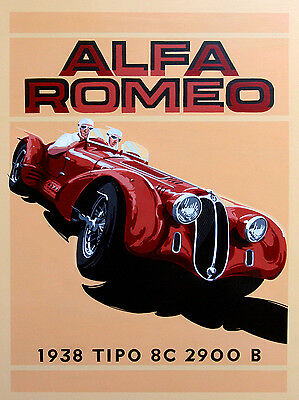 Alfa Romeo ,Retro metal Aluminium Sign Vintage Garage shed Man Cave wall