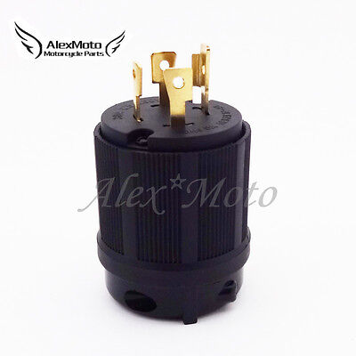 4 Prong Gasoline Generator Locking Plug 30A 125/250V L14-30P UL Approval Safety