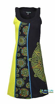 Women's Round Neck Sleeveless Dress With Front Embroidery