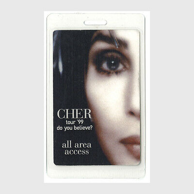 Cher authentic 1999 concert Laminated Backstage Pass Do You Believe Tour AA