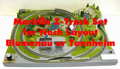 Marklin Z Track-Set for NOCH Z Scale Layout Blumenau 87060 or Tannheim 87065
