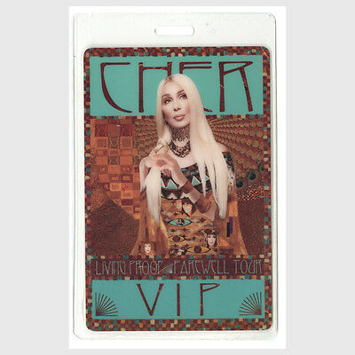 Cher authentic 2002 Laminated Backstage Pass Living Proof Farewell Tour VIP